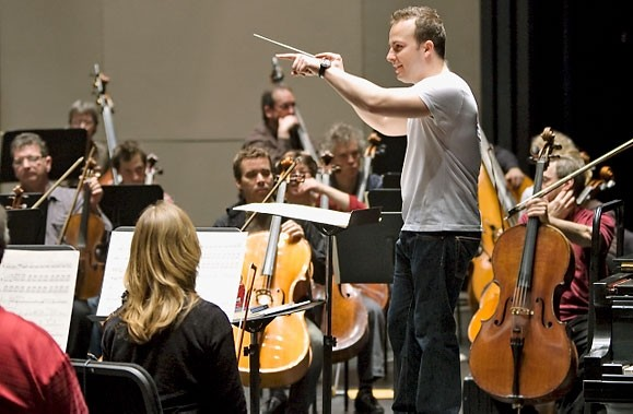 Yannick Nézet-Séguin a répété avec son orchestre hier,... (Photo: Alain Roberge, La Presse)