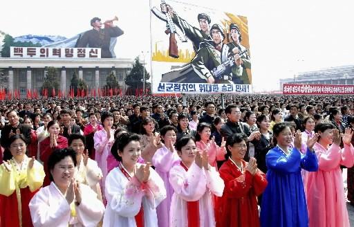 De nombreux Nord-Coréens ont participé à une manifestation... (Photo: Reuters)