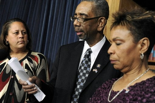 Laura Richardson, Bobby Rush et  Barbara ... (Photo: Reuters)