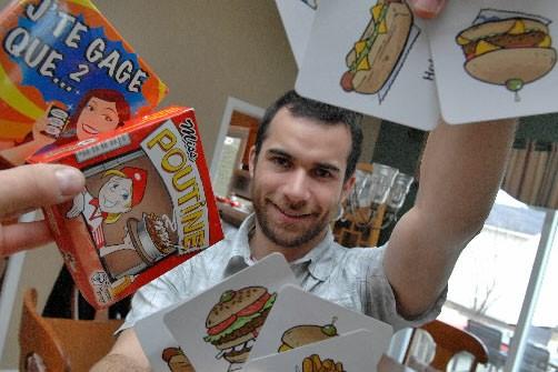 L'éditeur de jeux sherbrookois, Christian Lemay, présente son... (Photo Imacom Frédéric Côté)