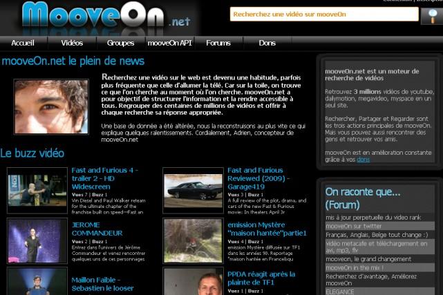 Le site MooveOn.net...