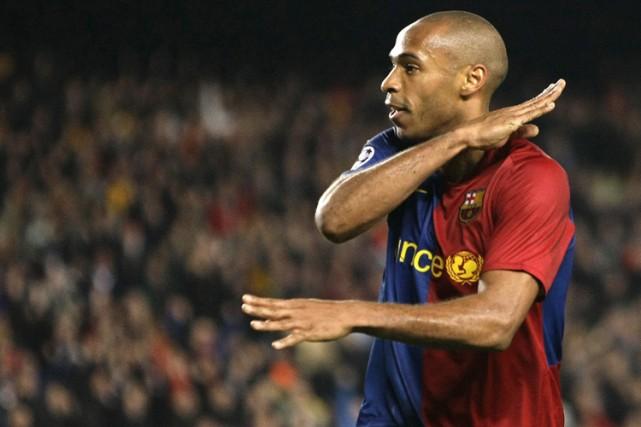 Thierry Henry a marqué un des quatre buts... (Photo: AFP)