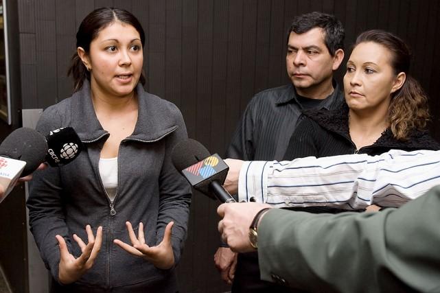Les membres de la famille Villanueva espèrent que... (Photo: André Tremblay, La Presse)