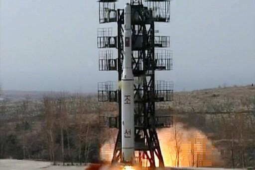 Le missile nord-coréen... (Photo: AFP)