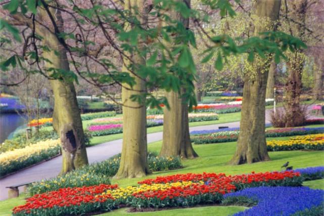 Les massifs fleuris et colorés bordent les sentiers... (Photo: Nathalie Pavy, collaboration spéciale)