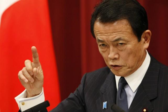 Le Premier ministre du Japon, Taro Aso.... (Photo: Reuters)