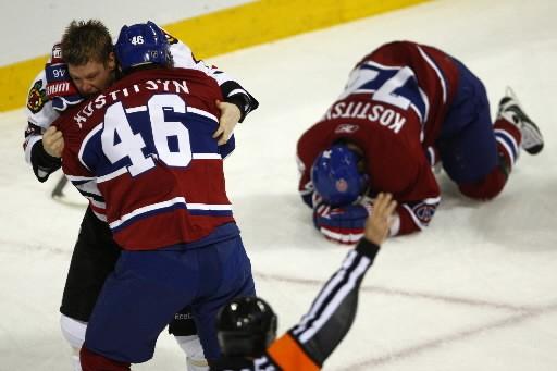 Sergei Kostitsyn était blessé au «haut du corps»... (Photo: PC)