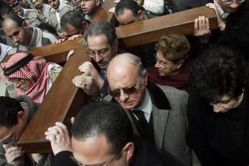 Des chrétiens ont participé à la procession du... (Photo)