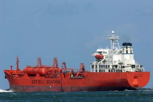 Le cargo libéré, le Bow Asir.... (Photo AFP /FRED VLOO)