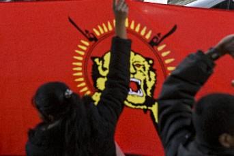 Quelque 1000 Tamouls sri-lankais manifestaient vendredi pour la quatrième... (Photo David Boily, La Presse)