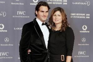 Roger Federer et sa compagne Mirka Vavrinec... (Photo: Reuters)