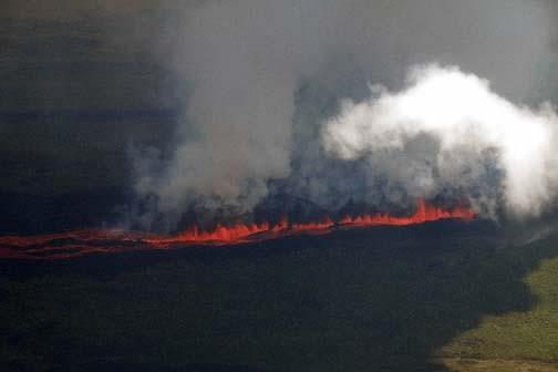 Le volcan La Cumbre.... (AFP PHOTO/Parque Nacional Galapagos)