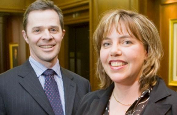Natalie Hotte et Sylvain Chartier de la Banque... (Photo: André Pichette, La Presse)