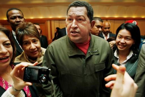 Hugo Chavez, le président vénézuélien.... (Photo: AP)