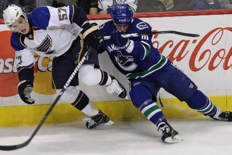 Les Canucks de Vancouver voient beaucoup de similarités entre eux et les Blues... (Photo: PC)