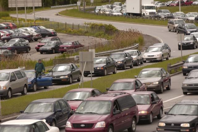 La congestion frappe principalement les autoroutes et les... (Photo: La Presse)