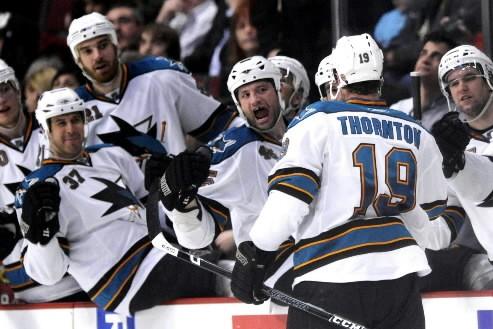 Et maintenant, tout à coup, la plus grande saison dans l'histoire des Sharks de... (Photo: AP)