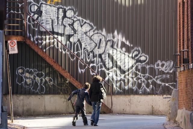 La lutte contre les graffitis finit par payer. À force de dépenser des millions... (Photo: François Roy, La Presse)