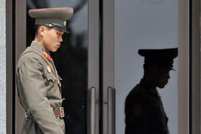 Un soldat nord-coréen... (Photo: AFP)