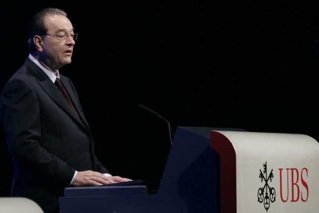 Le patron d'UBS, Oswald Grubel, s'est dit conscient... (Photo: Agence France-Presse)