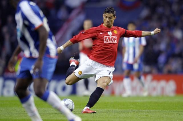 Cristiano Ronaldo a marqué avec un boulet de... (Photo: AP)