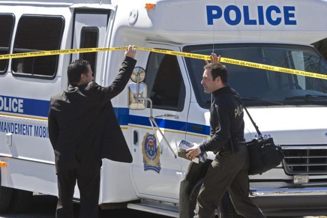 Plus de 1200 policiers ont participé à l'arrestation... (Photo: Ivanoh Demers, La Presse)