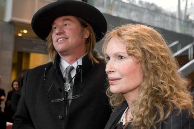 Les acteurs américains Val Kilmer et Mia Farrow... (Photo: André Pichette, La Presse)