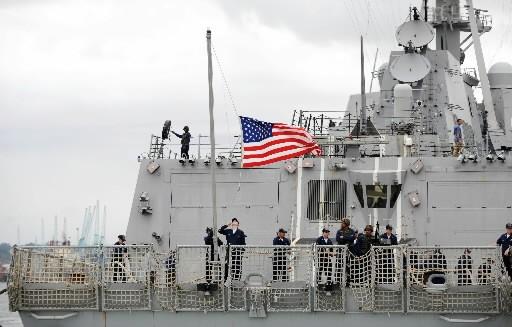 Le navire de guerre USS Bainbridge... (Photo: AFP)