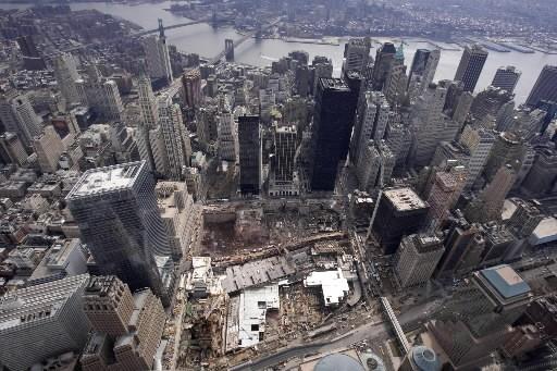 Une vue aérienne de Ground Zero... (Photo: AP)