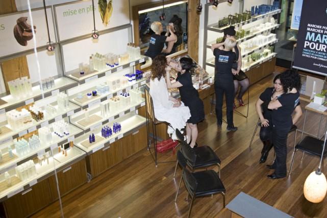 Aveda, la compagnie de beauté originaire du Minnesota, inaugure son nouveau... (Photo: David Boily, La Presse)