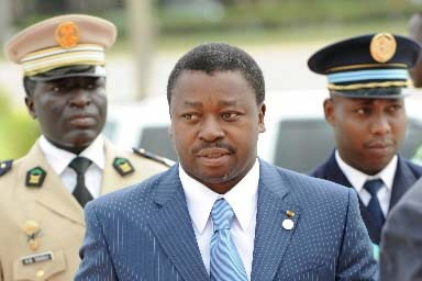 Le président togolais Faure Gnassingbé.... (Photo AFP/Pius Utomi Ekpei)