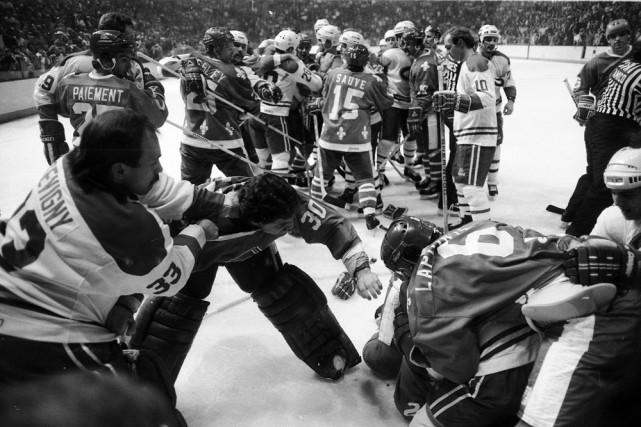 Le 20 avril 1984 au Forum de Montréal, Canadien et Nordiques s'affrontaient... (Photo: Bernard Brault, La Presse)