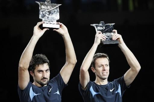 Daniel Nestor, à droite, et son partenaire Nenad... (Photo: Bloomberg archives)