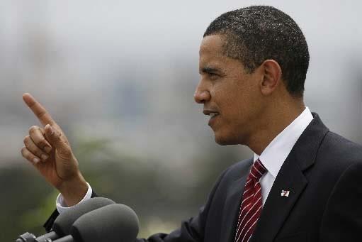 Barack Obama.... (REUTERS/Jim Bourg)