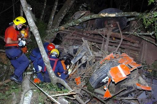 Des secouristes font enquête sur la scène de... (Photo: AP)