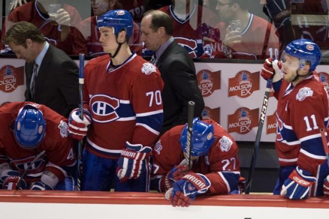 Kirk Muller, Bob Gainey et les joueurs du... (Photo: André Pichette, La Presse)