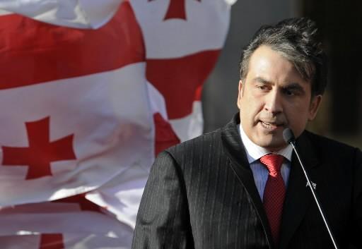 Mikheil Saakashvili, président de la Géorgie... (Photo: Reuters)