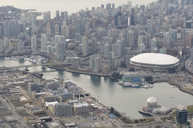 Une vue aérienne de Vancouver... (Photo: PC)