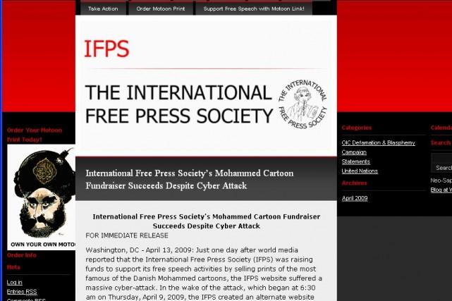 Le site International Free Press Society...