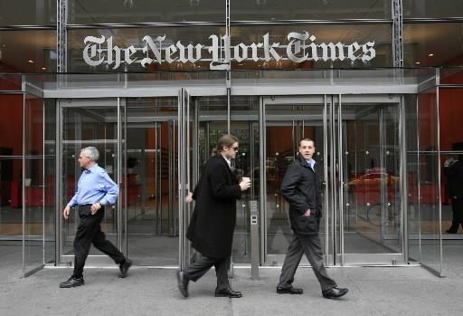 Le groupe de presse du New York Times a annoncé mardi qu'il était tombé dans le... (AP)