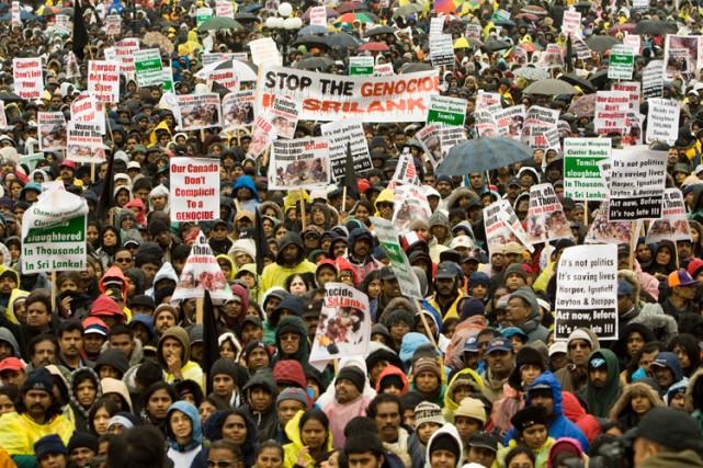 Les manifestants veulent que le Canada en fasse... (Photo: PC)