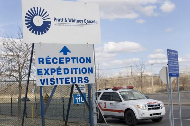L'éntrée de l'usine Pratt et Whitneyà Longueuil.... (Photo: Robert Skinner, La Presse)