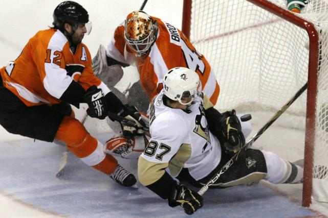 Sidney Crosby a marqué le premier but du... (Photo: AP)