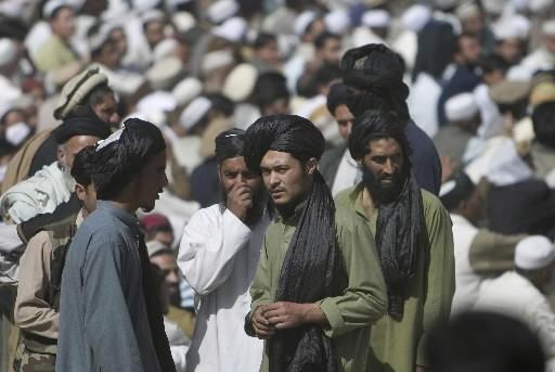 Des talibans lors d'un rassemblement à Mingora, capitale... (Photo: AP)