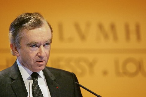 Le pdg du groupe français LVMH Bernard Arnault.... (Photo: AFP)