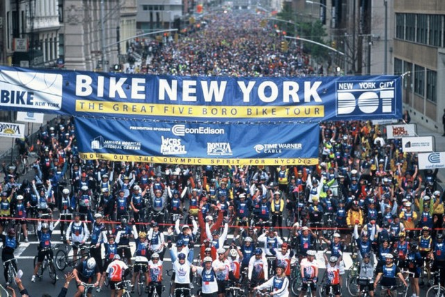 Près de 30 000 cyclistes envahiront les rues de New York, le 3 mai prochain,... (Photo fournie par Voyages Gendron)