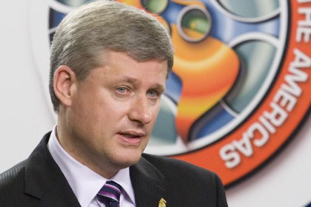 Au Québec, les conservateurs de Stephen Harper ont... (Photo: PC)