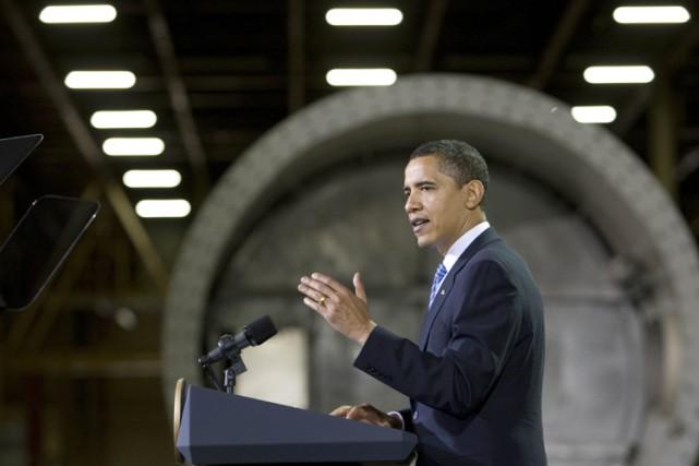 Barack Obama a livré un discours dans une... (Photo: Reuters)