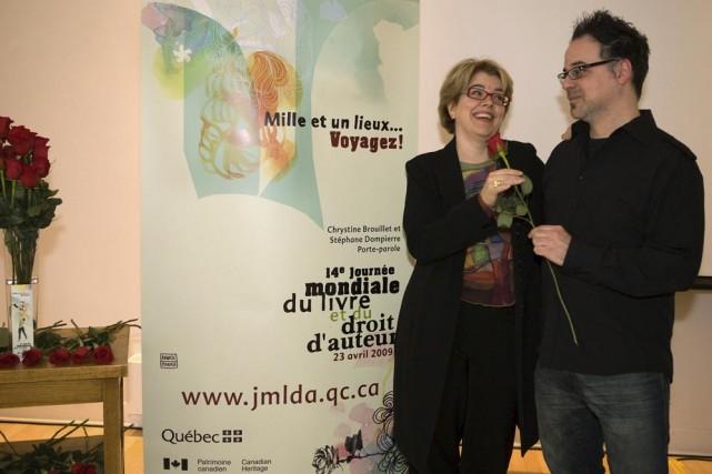 Chrystine Brouillet et Stéphane Dompierre.... (Photo: CNW)