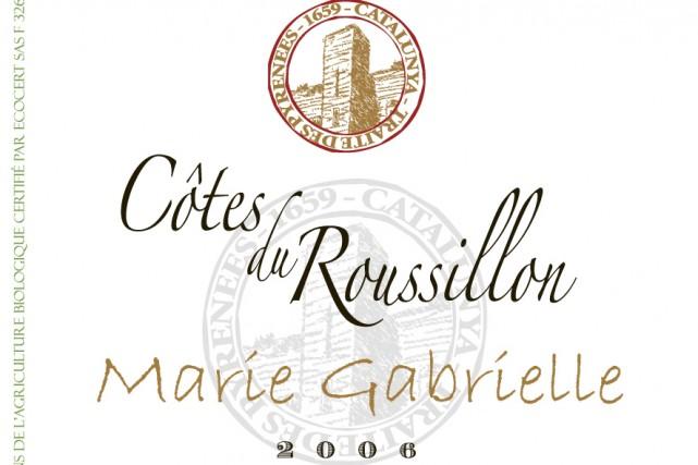 Très beau vin du Languedoc, le Côtes du Roussillon 2006 Marie Gabrielle Cazes,...